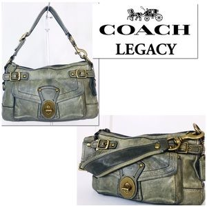 Coach Legacy Moss Green Vachetta Leather Bag